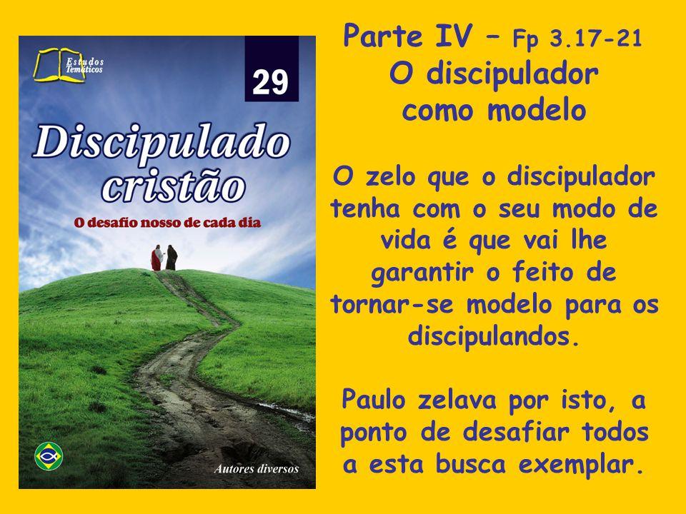 Parte IV – Fp 3.17-21 O discipulador como modelo