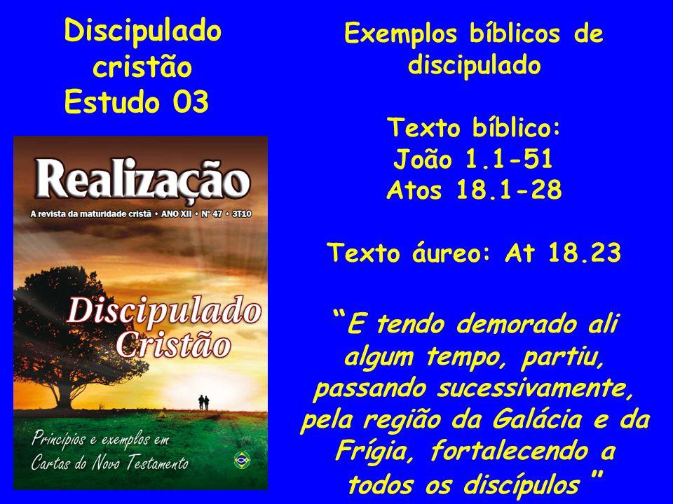 Exemplos bíblicos de discipulado