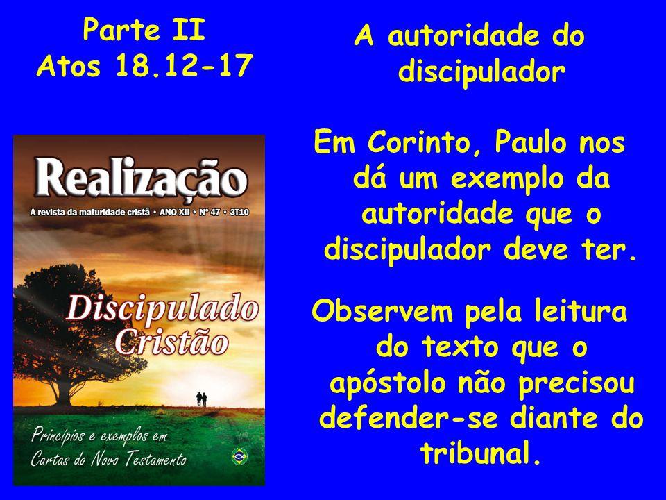 A autoridade do discipulador