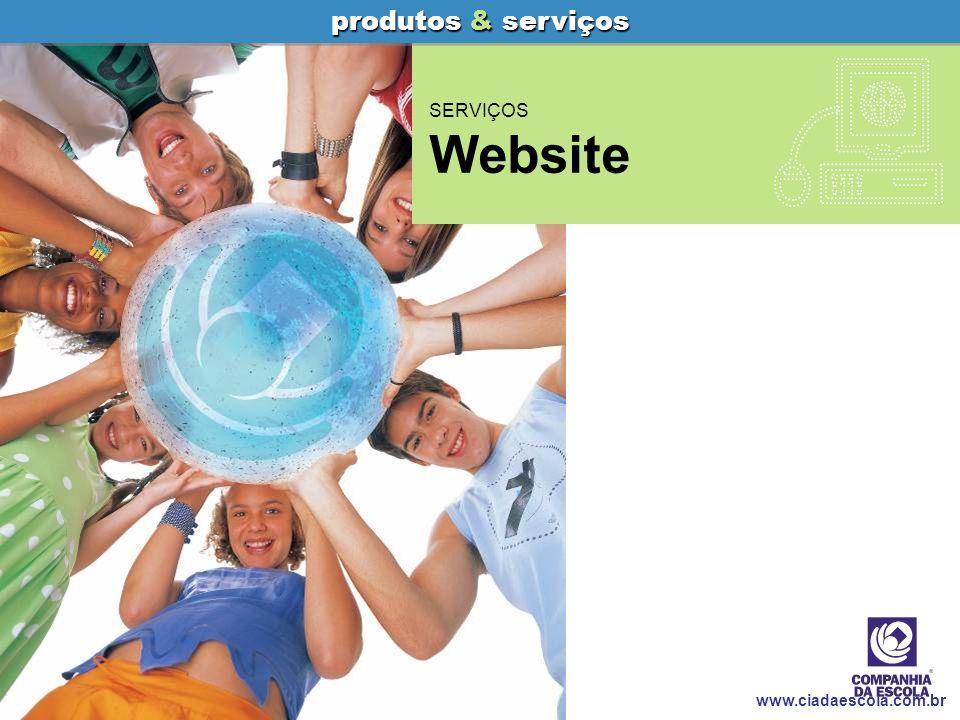 produtos & serviços SERVIÇOS Website