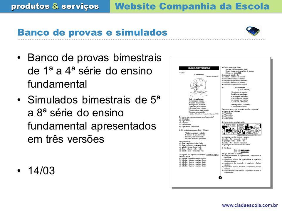Banco de provas e simulados