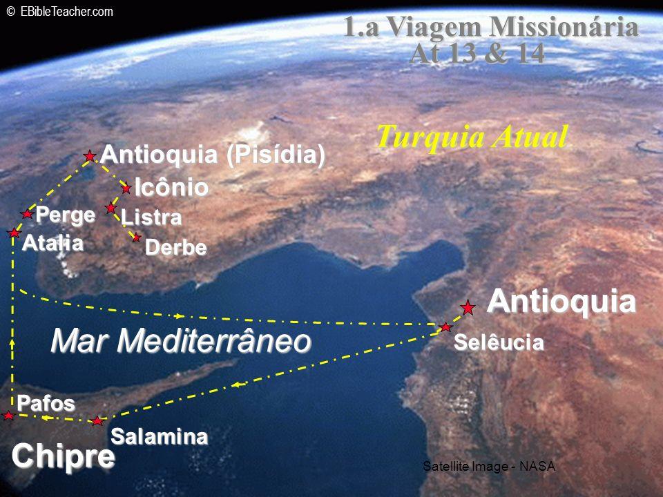 Turquia Atual Antioquia Mar Mediterrâneo Chipre 1.a Viagem Missionária