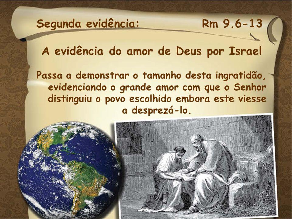A evidência do amor de Deus por Israel
