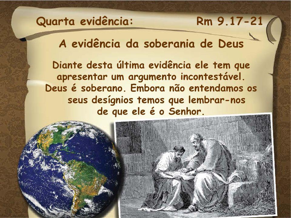 A evidência da soberania de Deus
