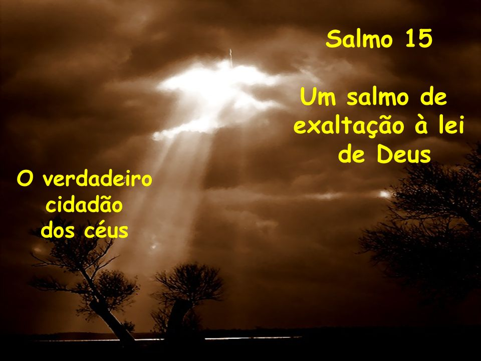 Salmo 15 Um salmo de exaltação à lei de Deus