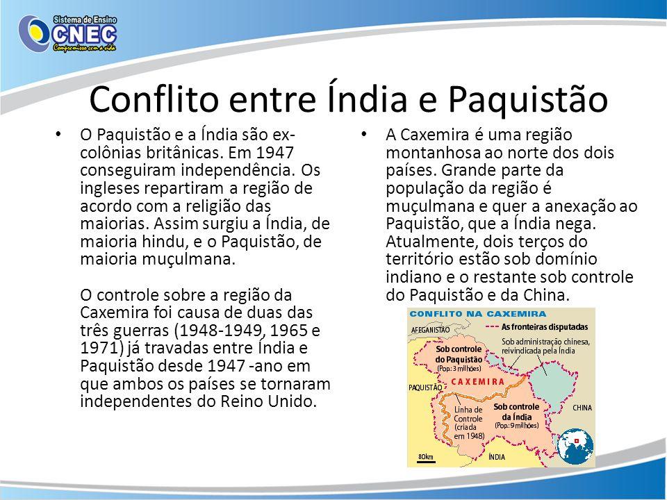 Conflito entre Índia e Paquistão