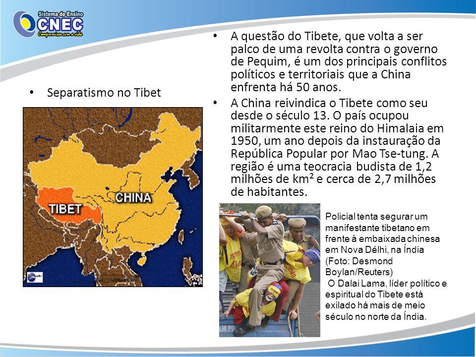 A questão do Tibete, que volta a ser palco de uma revolta contra o governo de Pequim, é um dos principais conflitos políticos e territoriais que a China enfrenta há 50 anos.