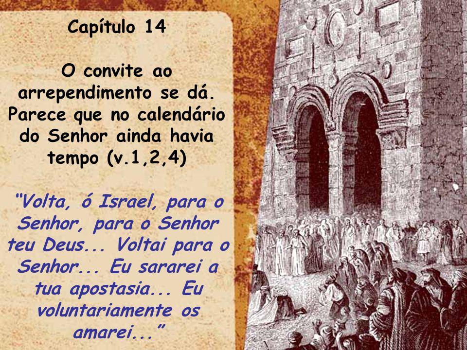 Capítulo 14 O convite ao arrependimento se dá. Parece que no calendário do Senhor ainda havia tempo (v.1,2,4)