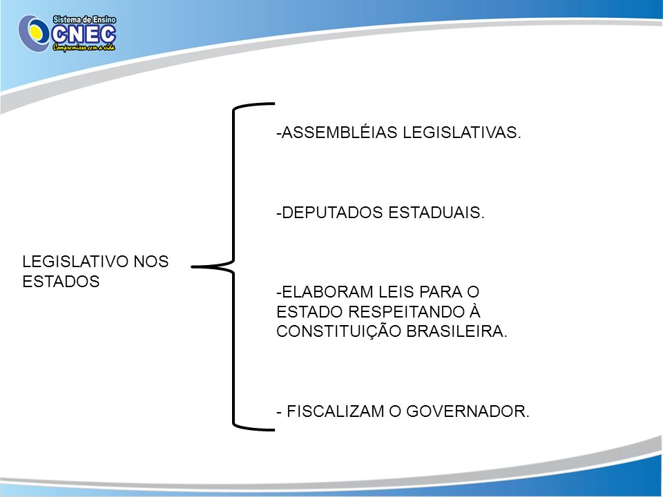 ASSEMBLÉIAS LEGISLATIVAS.