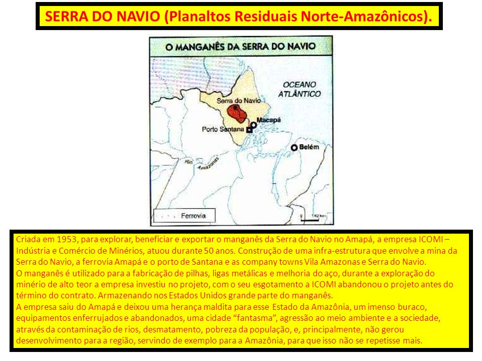 SERRA DO NAVIO (Planaltos Residuais Norte-Amazônicos).