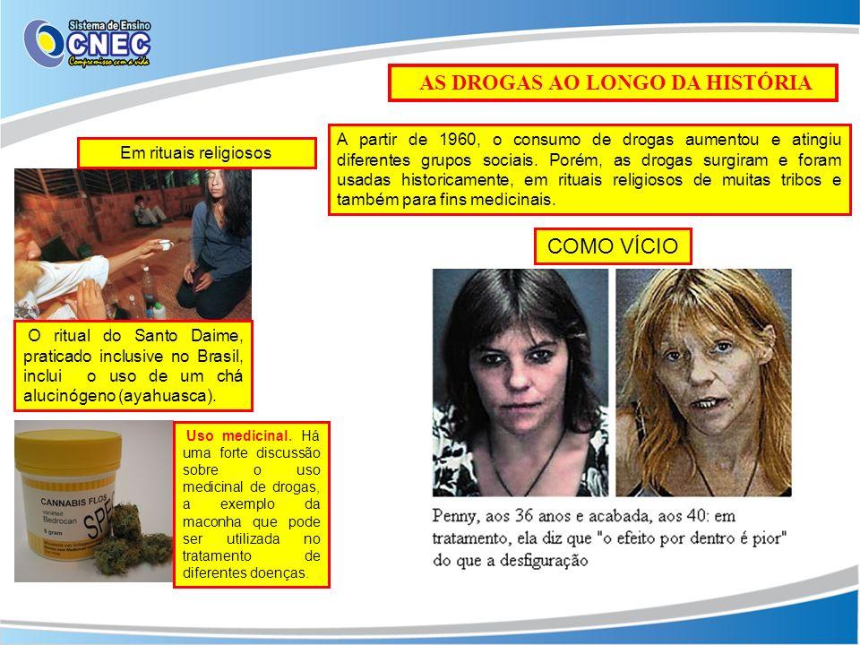 AS DROGAS AO LONGO DA HISTÓRIA