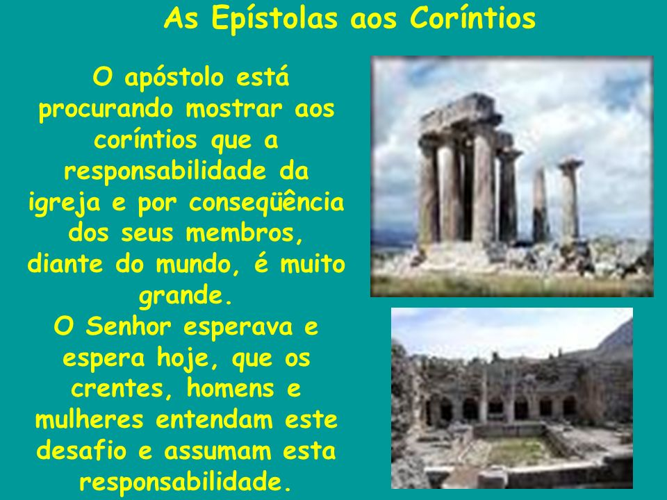 As Epístolas aos Coríntios