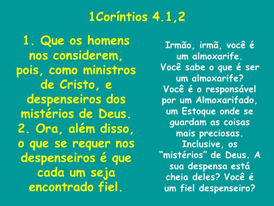 1Coríntios 4.1,2