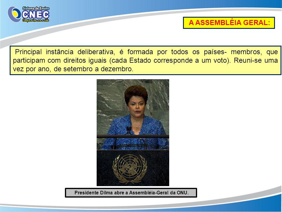 Presidente Dilma abre a Assembléia-Geral da ONU.
