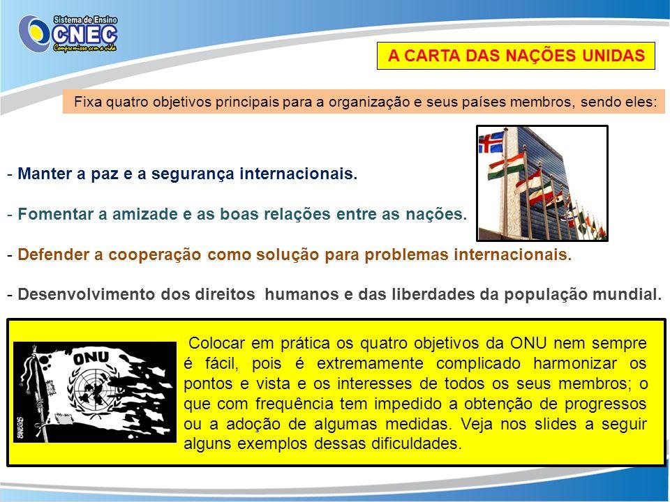 A CARTA DAS NAÇÕES UNIDAS