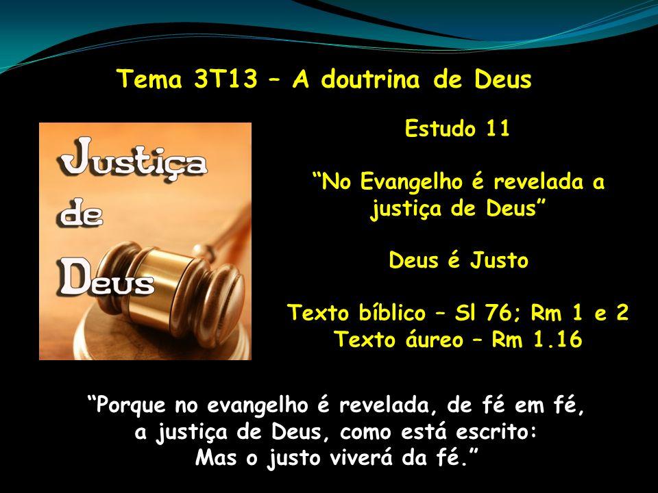 Tema 3T13 – A doutrina de Deus