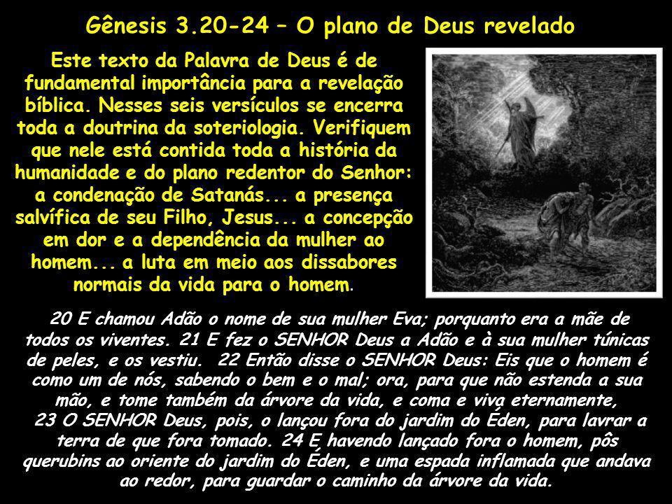 Gênesis 3.20-24 – O plano de Deus revelado