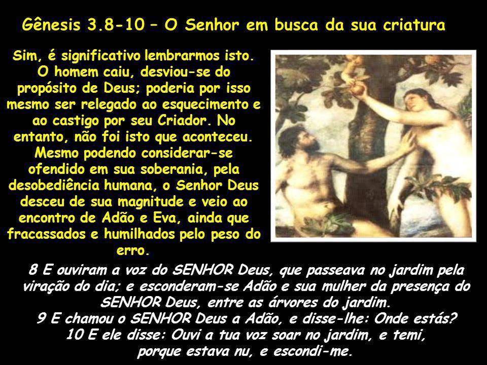 Gênesis 3.8-10 – O Senhor em busca da sua criatura