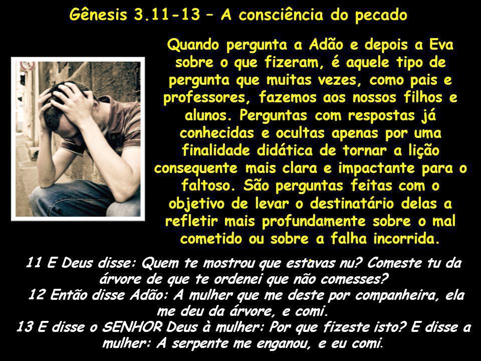 Gênesis 3.11-13 – A consciência do pecado