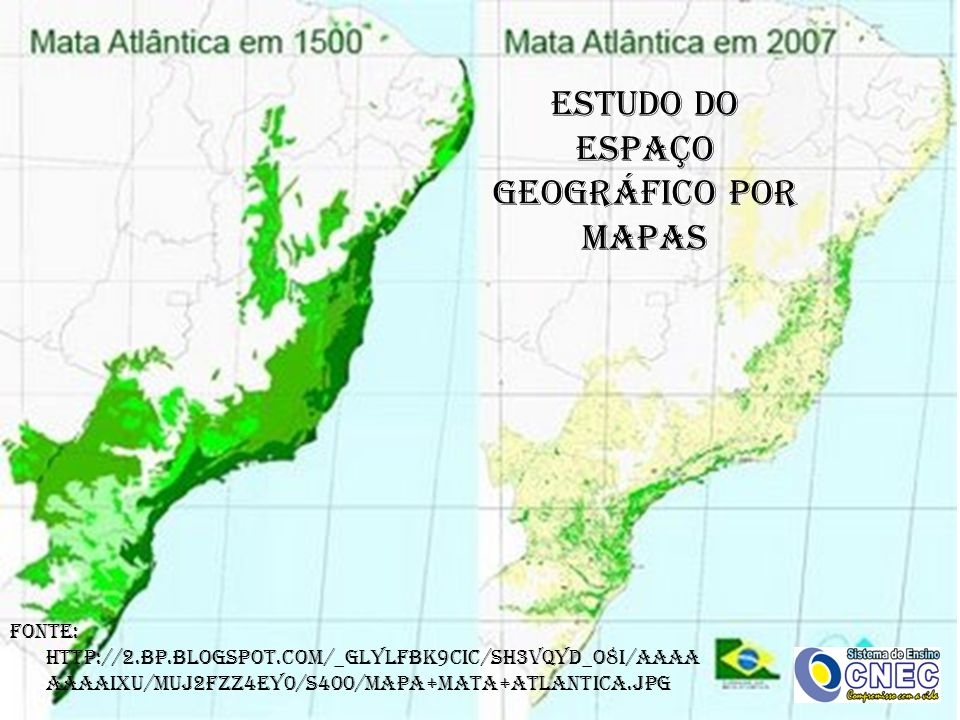 ESTUDO DO ESPAÇO GEOGRÁFICO POR MAPAS