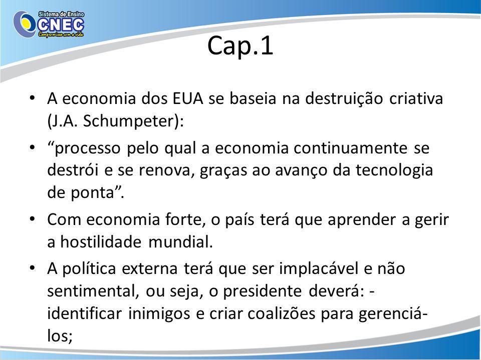 Cap.1 A economia dos EUA se baseia na destruição criativa (J.A. Schumpeter):