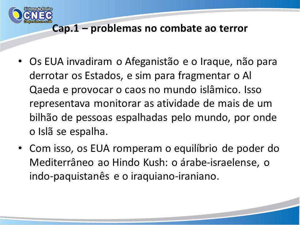 Cap.1 – problemas no combate ao terror
