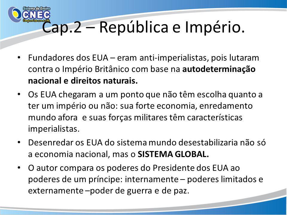 Cap.2 – República e Império.