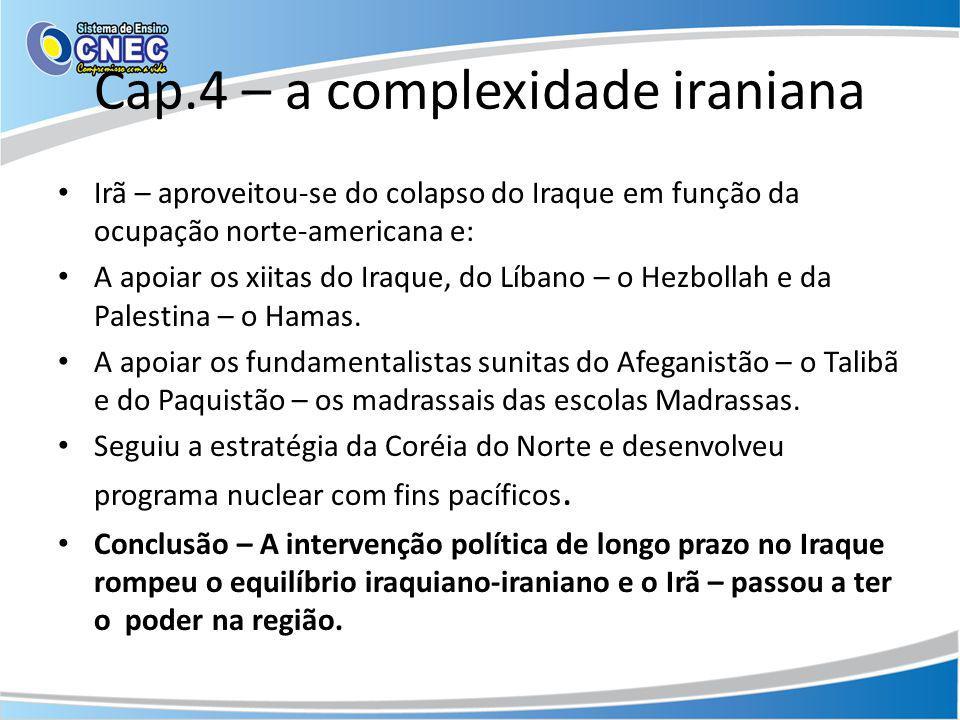 Cap.4 – a complexidade iraniana