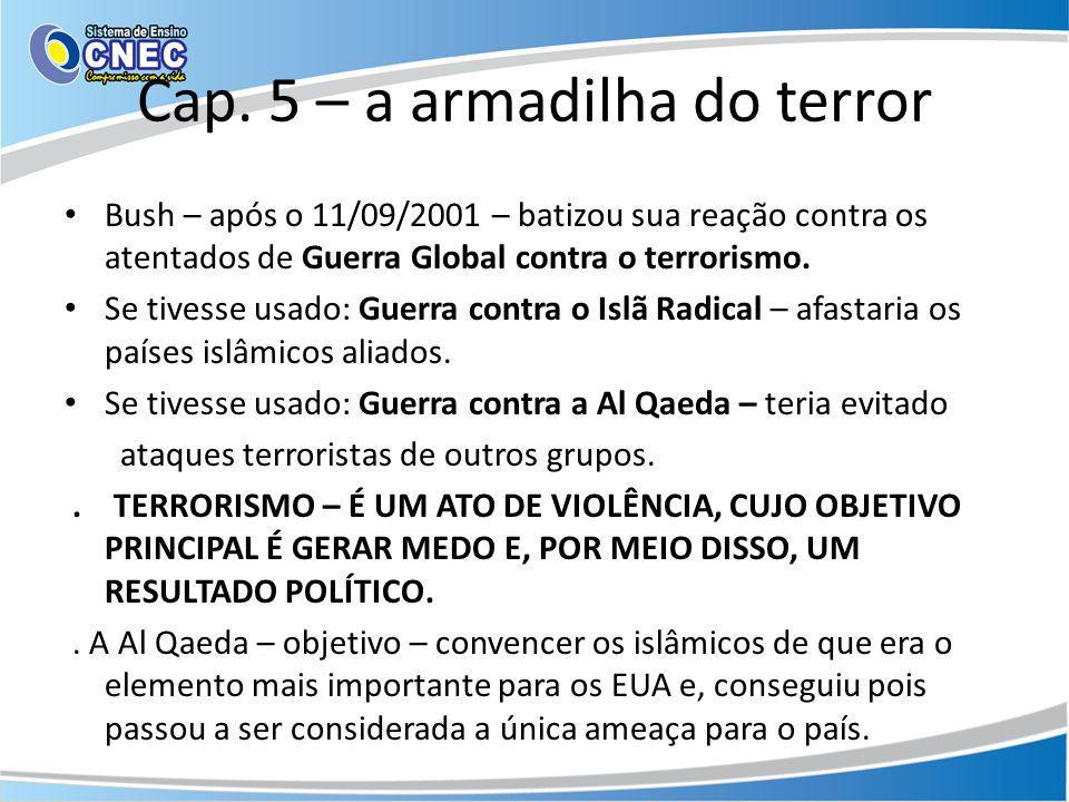 Cap. 5 – a armadilha do terror
