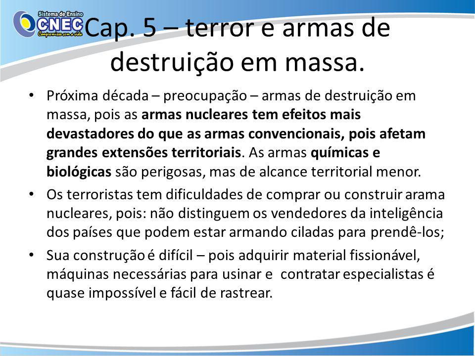 Cap. 5 – terror e armas de destruição em massa.