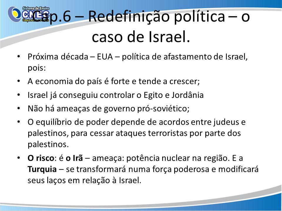 Cap.6 – Redefinição política – o caso de Israel.