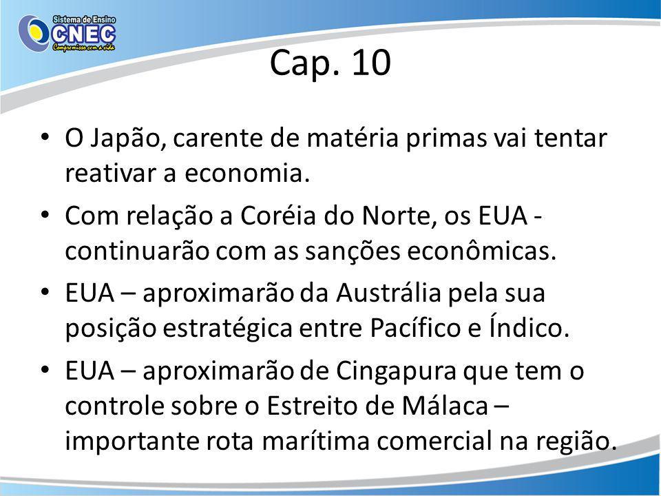 Cap. 10 O Japão, carente de matéria primas vai tentar reativar a economia.