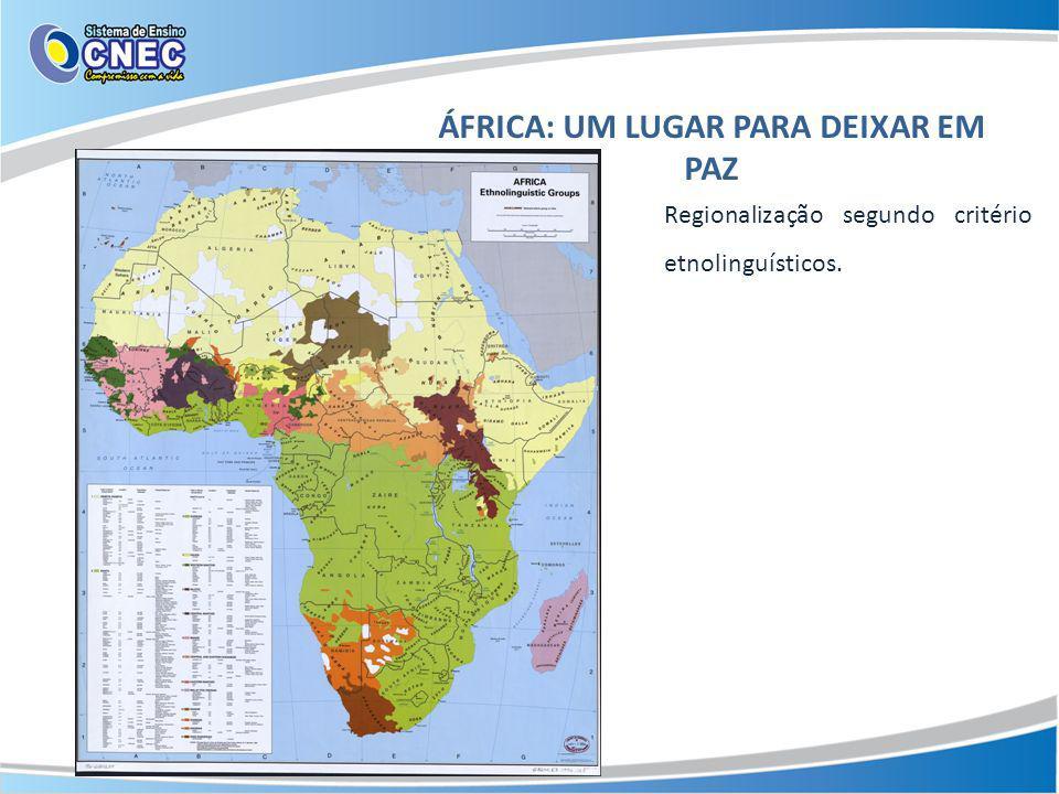 ÁFRICA: UM LUGAR PARA DEIXAR EM PAZ