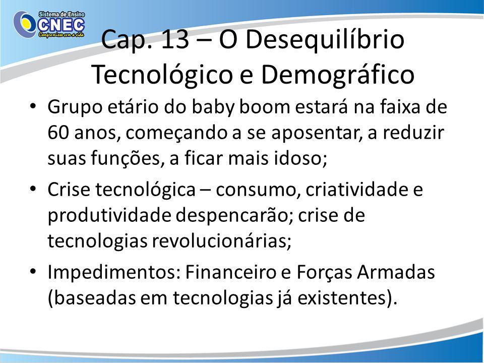 Cap. 13 – O Desequilíbrio Tecnológico e Demográfico