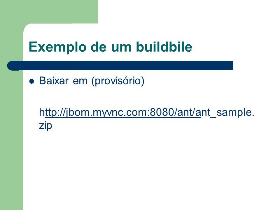 Exemplo de um buildbile