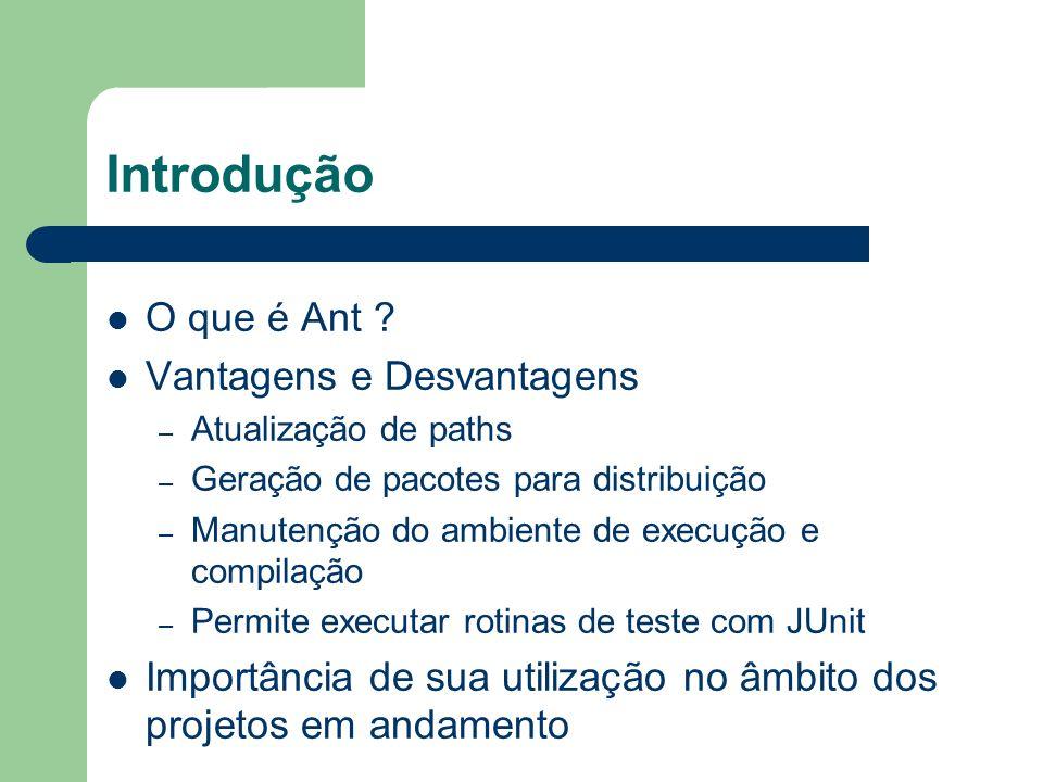 Introdução O que é Ant Vantagens e Desvantagens