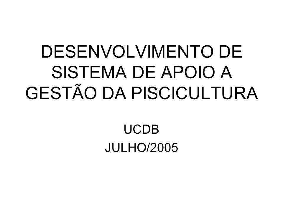 DESENVOLVIMENTO DE SISTEMA DE APOIO A GESTÃO DA PISCICULTURA