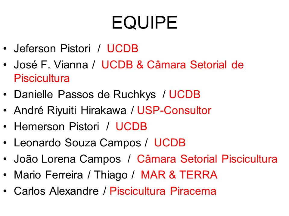 EQUIPE Jeferson Pistori / UCDB