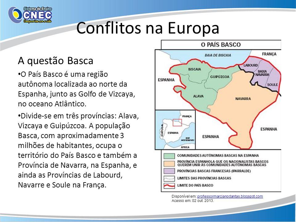 Conflitos na Europa A questão Basca