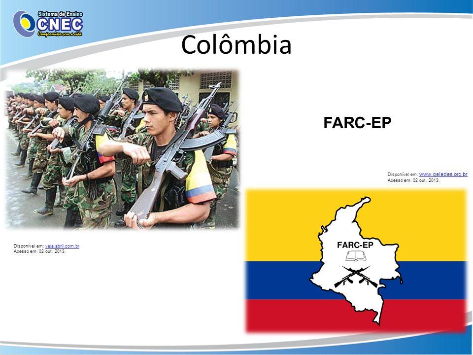Colômbia FARC-EP Disponível em: www.geledes.org.br