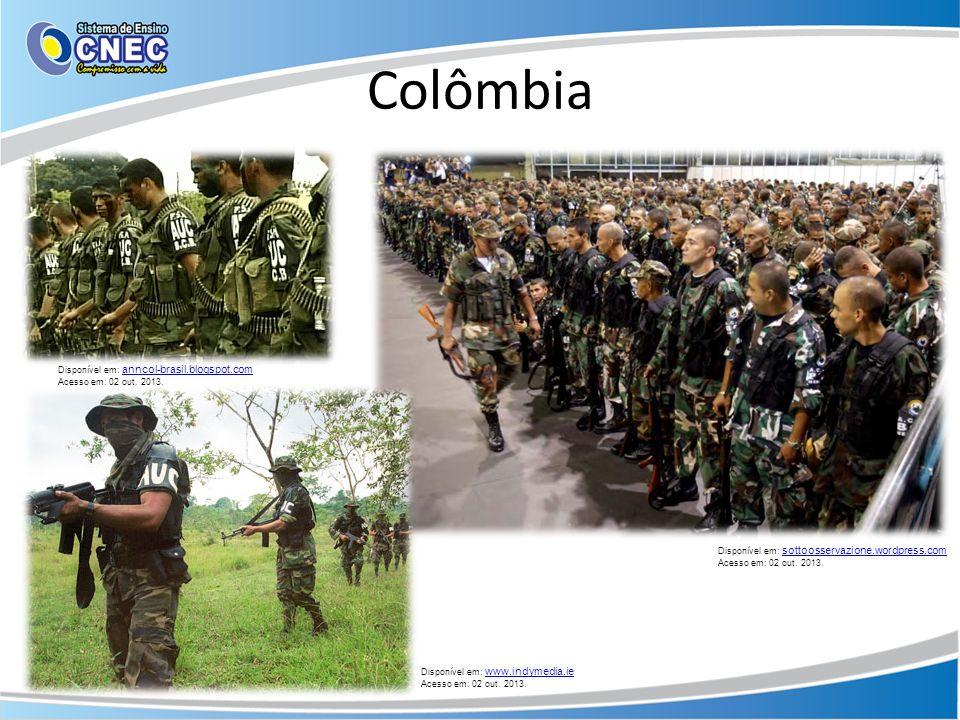 Colômbia Disponível em: anncol-brasil.blogspot.com