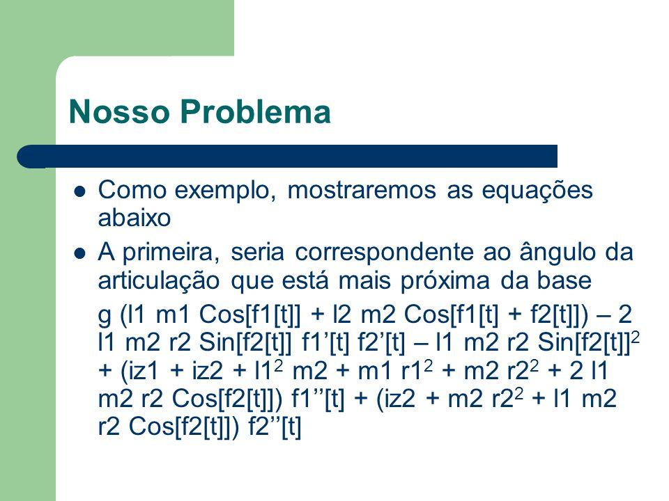 Nosso Problema Como exemplo, mostraremos as equações abaixo