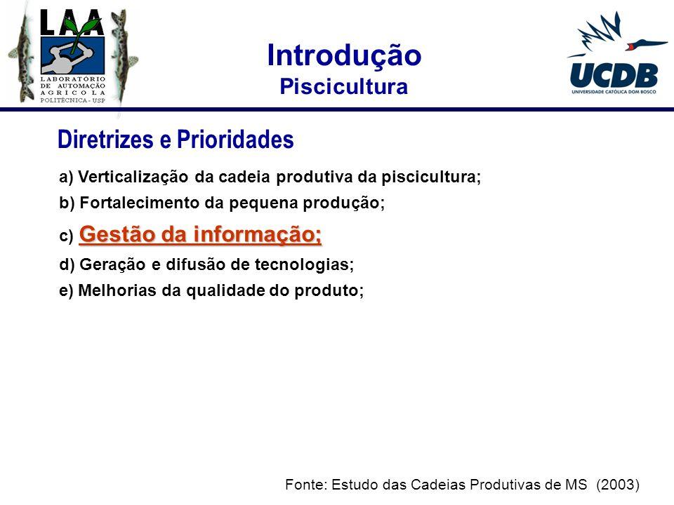 Introdução Diretrizes e Prioridades Piscicultura