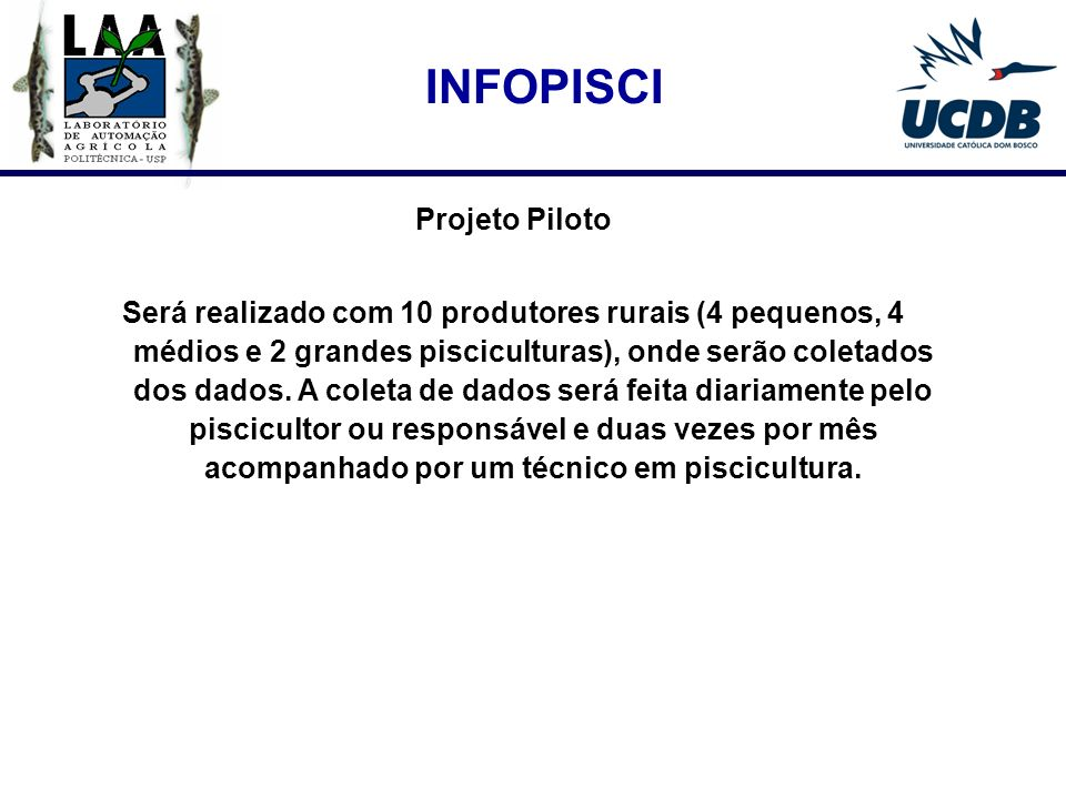 INFOPISCI Projeto Piloto