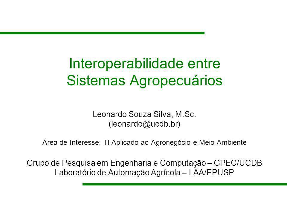 Interoperabilidade entre Sistemas Agropecuários
