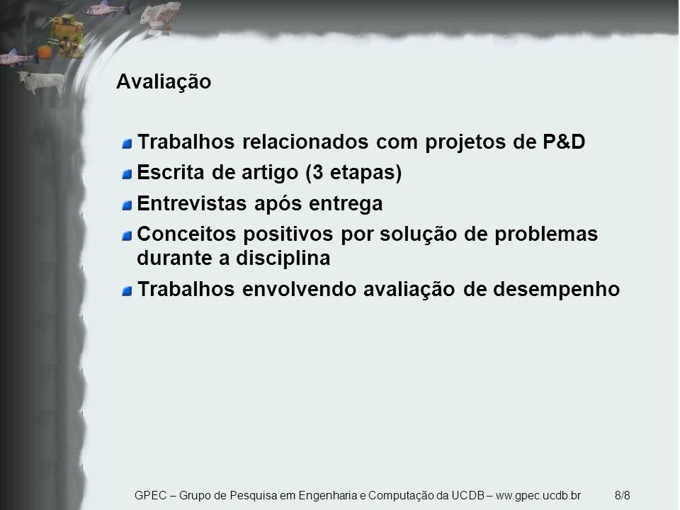 Trabalhos relacionados com projetos de P&D