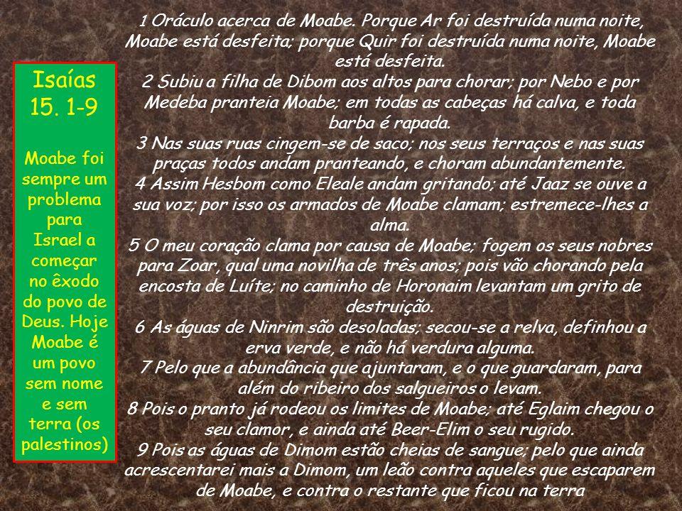 1 Oráculo acerca de Moabe