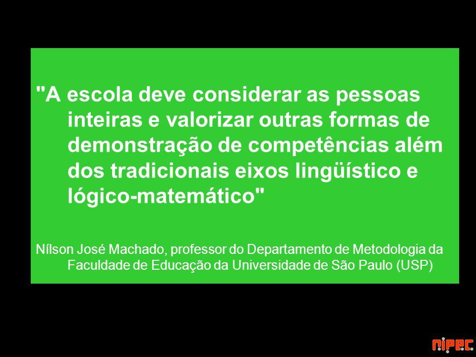 A escola deve considerar as pessoas inteiras e valorizar outras formas de demonstração de competências além dos tradicionais eixos lingüístico e lógico-matemático