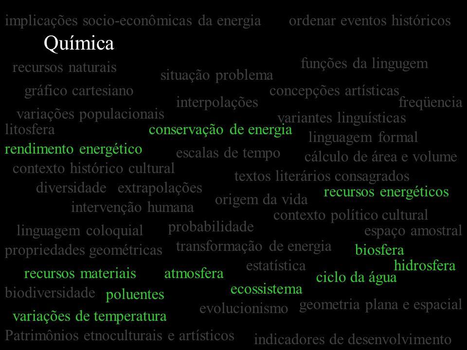 Química implicações socio-econômicas da energia
