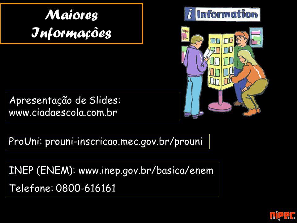 Maiores Informações Apresentação de Slides: www.ciadaescola.com.br